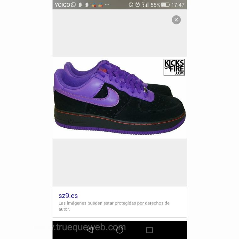 Imagen de Air force ONE black purple barkley